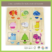 Family Game Safety Educational Wooden Puzzle For Toddlers