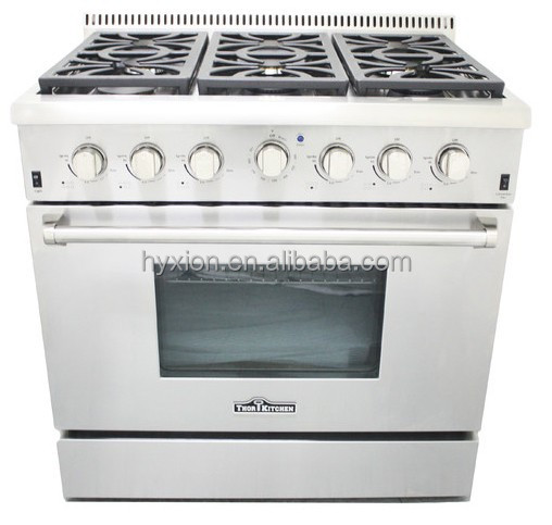 Thor Kitchen 36 Freestanding Stainless Steel Hyxion Gas Range Reviews Buy Stainless Steel