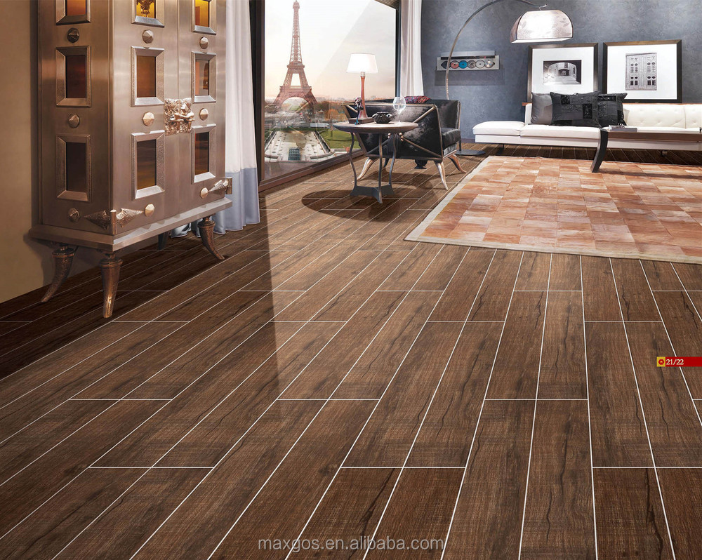 Ceramic floor tiles wood design