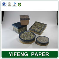 Round Wax Decorative Corrugated Cardboard Boxes Wholesale