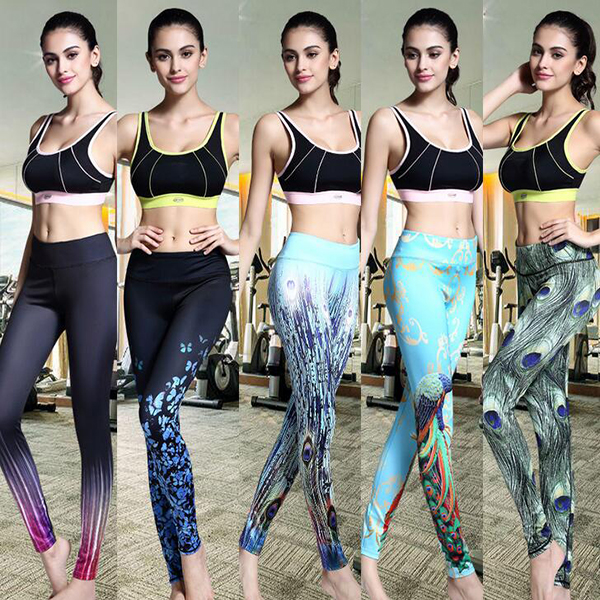 KZ304 2017 Custom Wholesale Colorful Women's Compression Tights Yoga Pants Absolute Workout leggings