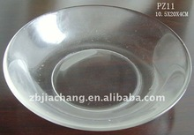 "8"" clear round glass salad plate PZ11"