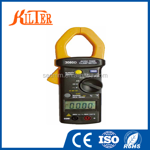 Pocket TRMS Auto-range AC/DC Leakage Current KT-3080D Clamp Meter