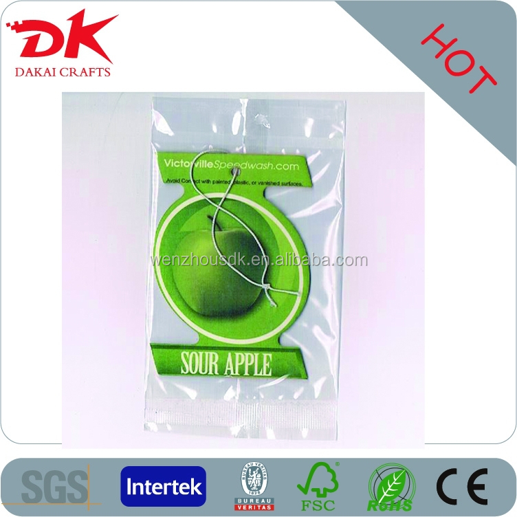 green apple fragrance strong smell high quality paper air freshener