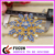 factory bulk flower crystal wedding jewelry gold plated rhinestone brooches for women decoration