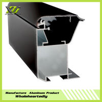 Black anodize aluminum screen extrusion profiles for advertising banner / fabric light box