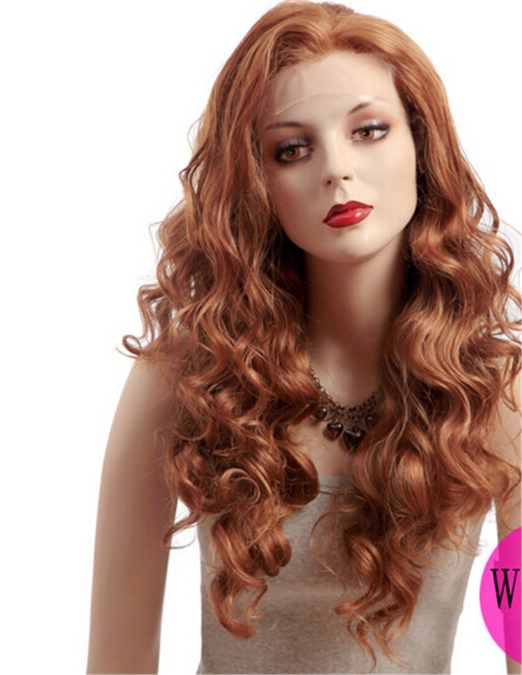 Wholesale light brown wave wig cosplay wigs direct china manufacturer