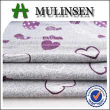 Mulinsen textile stretch soft polyester fabric/ heart pattern fabric