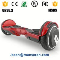 2016 hot sell powerful self balancing electric scooter 8 inch hover board kids tricycle with handlebar