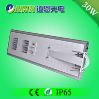 30W 2015 new product waterproof integrated all in one led solar solar street lights with 30 watt led street lamp