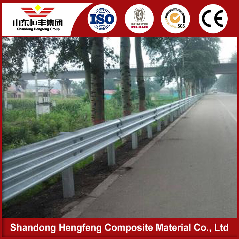 Three Wave Hot Rolled Galvanized Expressway Safety Guardrail