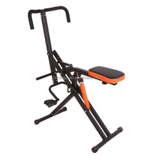 Home use power rider total crunche/trim rider exercise machine