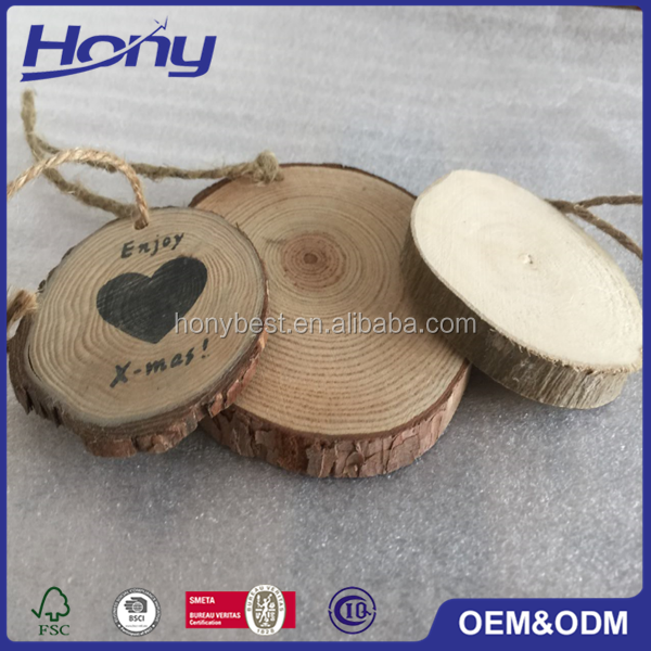 DIY Home and Garden Natural Decoration Wood Log Craft Slice,Round Wood Cut pieces