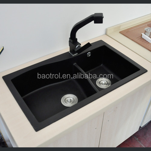High quality quartz kitchen sinks black color stone for High quality kitchen sinks