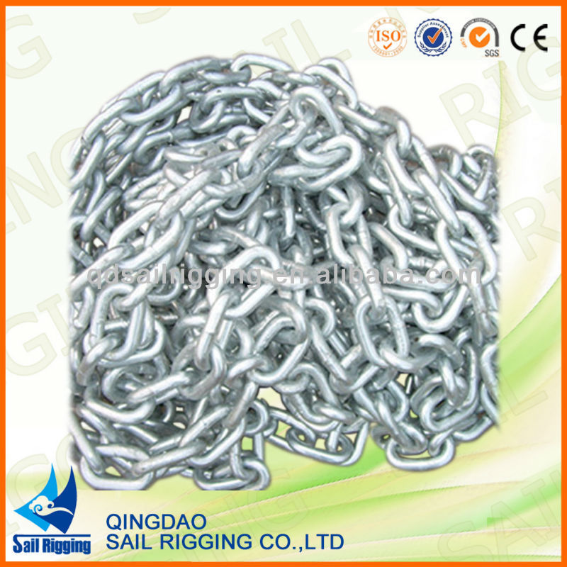 hot dip galvanized steel link chain