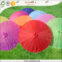 colorful logo printed High quality Japanese craft wedding decoration paper parasols