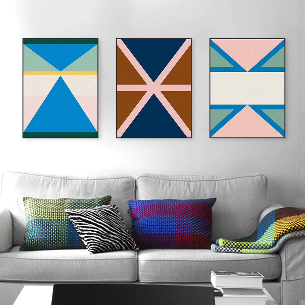 Abstract Geometric Shape Color Canvas Big Art Print Poster Wall Picture Paintings No Frame Modern Nordic Living Room Home Decor