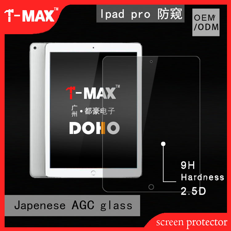 9h 180 degree privacy screen protector for iPad Pro tempered glass screen protector