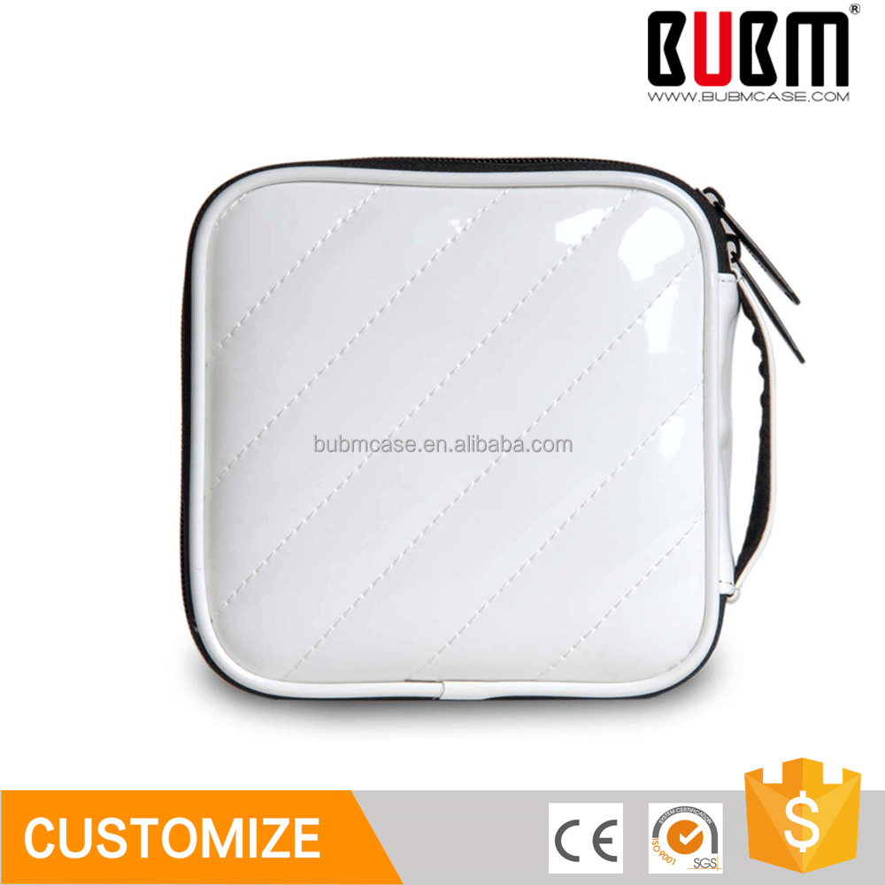 Wholesale BUBM elegant empty high capacity white cd case