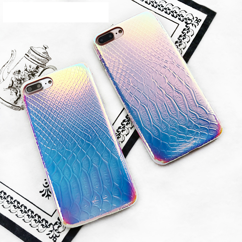 2017 New Crocodile Skin Laser Soft TPU cell Phone case For iPhone X 8 Plus 6 7