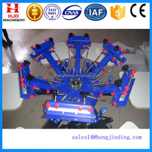 4 colors 4 stations 6colors 6stations double wheel manual silk screen printing machine for sales