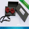 Man cocktail wine party decorative bow tie packaging gift box with clear window lid