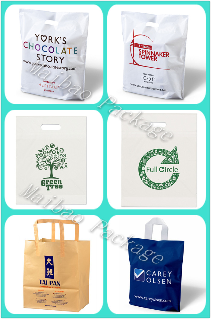 24-Year Manufacturer Custom Printed Polythene Shopping Carrier Die Cut Handle Purchase Plastic Bags Imported From China