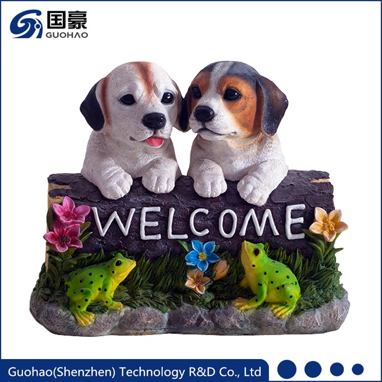 Impressive Adorable welcome dog garden statues