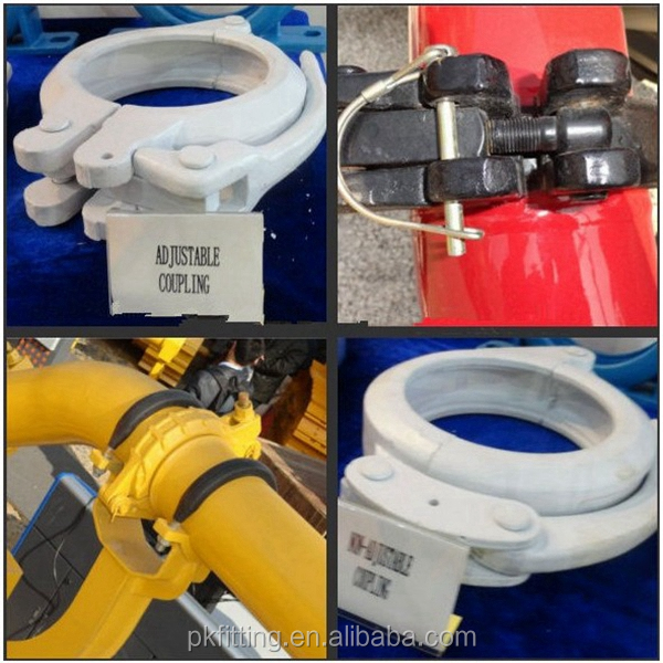 Junjin truck mounted concrete pump pipe elbow China manufacturer Small Concrete Pump Hose Clamps