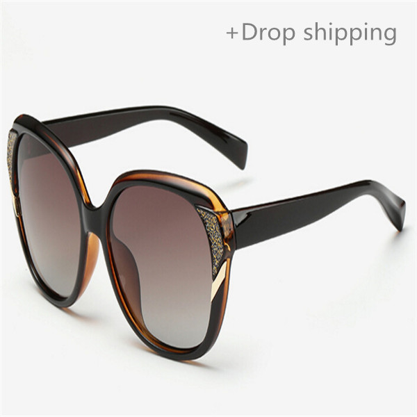 Drop shipping Source women polarized sunglasses protecting eyes classic big frame driving glasses 2511