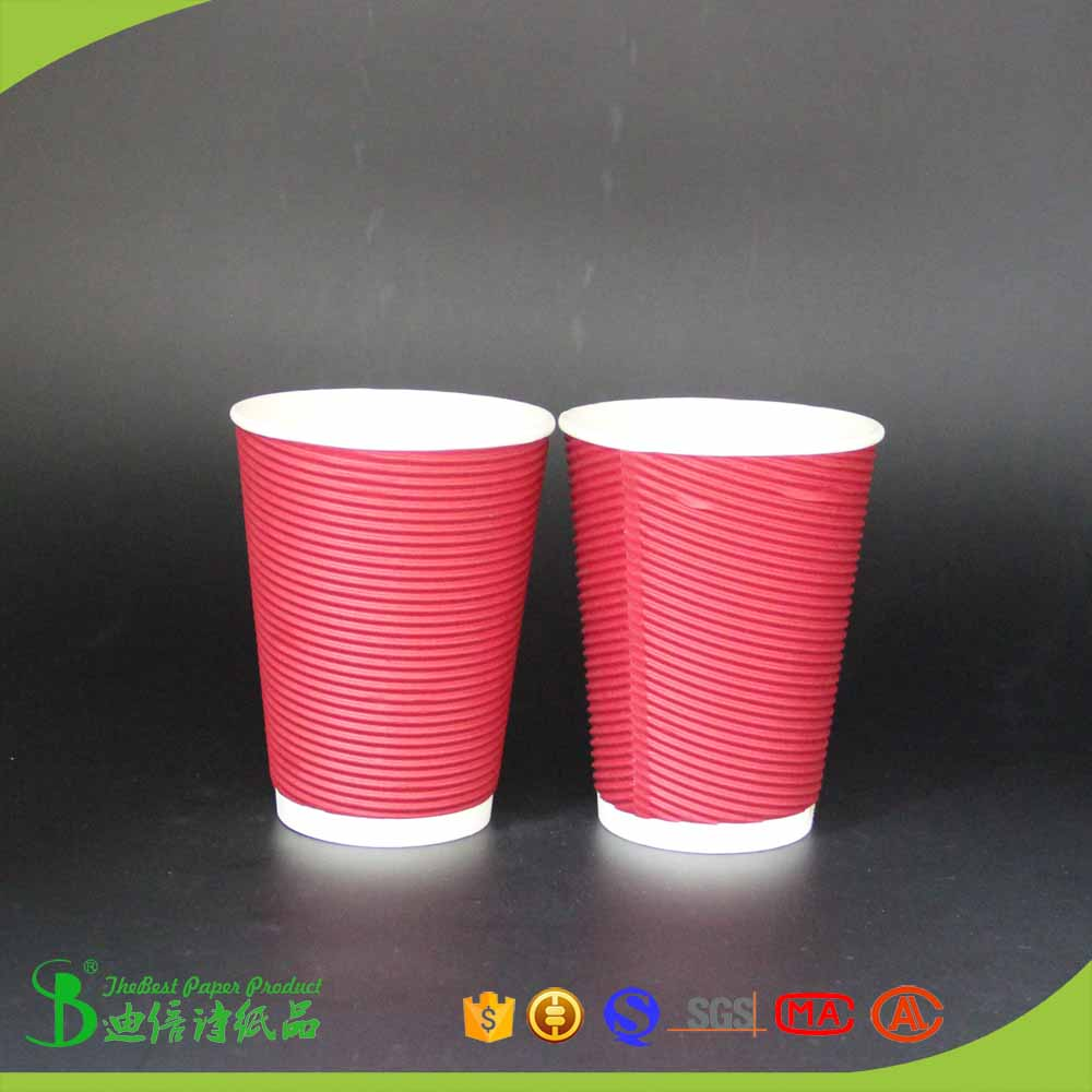 TheBEST Fashion eco friendly western country market corrugated paper cup