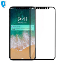9h hardness 3d full mobile phone cover tempered glass screen protector for iphone X anti-fingerprint screen protector