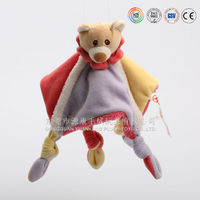 Hot Sell Colorful and comfortable plush handkerchief infant blanket stuffed toy