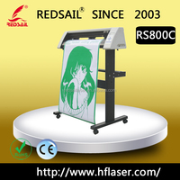 Vinyl adhesive cutter Vinyl sticker cutting plotter Redsail RS800C USB driver for hot sale