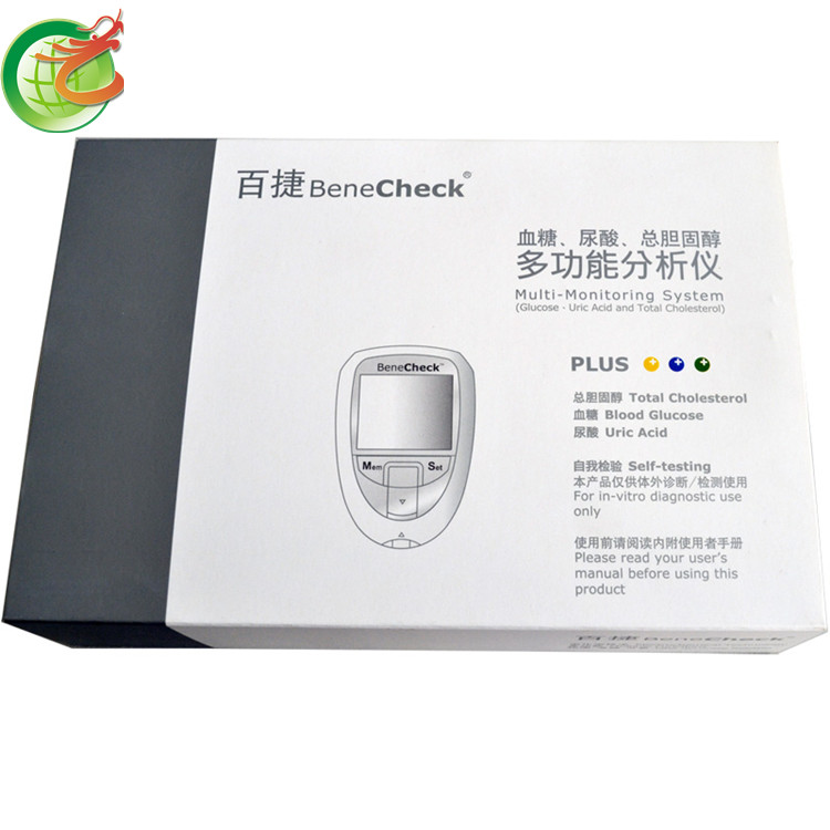 Bene Check Meter multi-monitoring glucose & cholesterol and uric acid meter