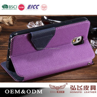 BSCI/EICC/ SEDEX Approved factory / leather window phone case for iphone 6