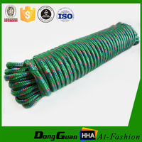 Promotional hot selling colorful 8mm braided ships mooring rope for wholesale