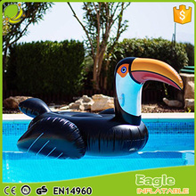 Custom giant inflatable animals Toucan / woodpecker / pelican pool float Swimming Pool Party Fun Beach Floating Island Buoy Toys