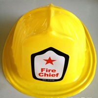 cheap price halloween cosplay hat kids plastic fire hard hat
