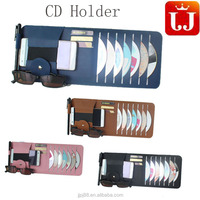 Factory Produced PU Leather car CD DVD Sleeve/Bag/Case/Holder wholesale