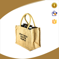 Can be customized Jute wine bag,jute fabric with coated wine carry bag