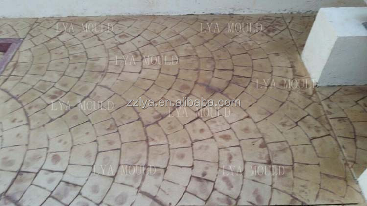 Best Selling Rubber Stamped Concrete Mat Stamp Mold Paving Patterns