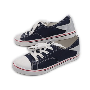 Simple style streak factory price wholesale women canvas shoes