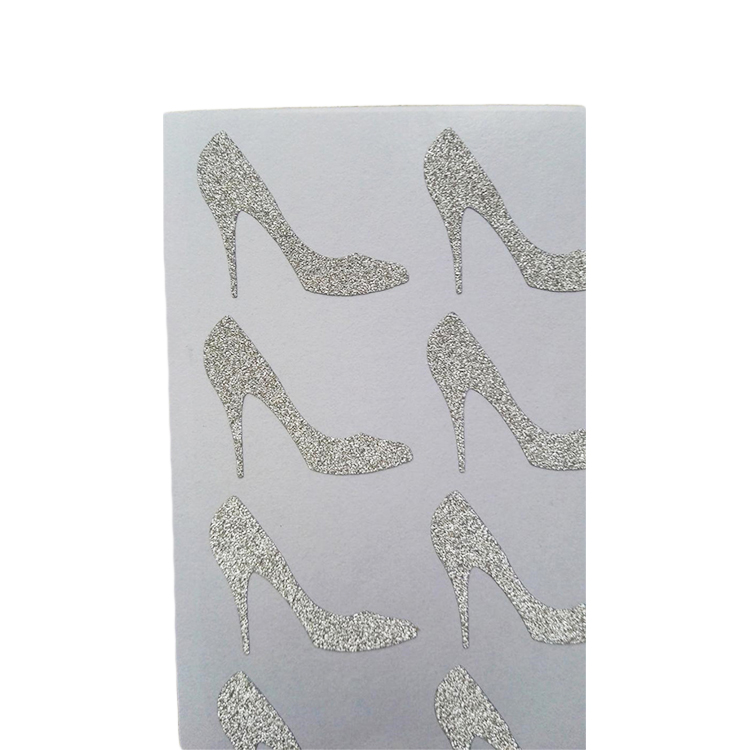 Custom shaped glitter sticker printing for decoration