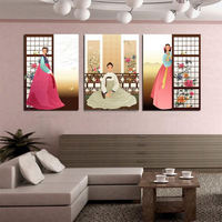 3 Panel Free Shipping South Korea Hot Sell Modern Wall Painting abstract Home Wall Art Picture Paint on Canvas Prints art