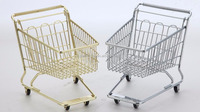 MC-#03Office stationary decoration metal mini suppermarket shopping trolley cart for kids