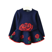 Autumn winter Baby Girl Dresses baby cotton frock design for 3 year old girl wear Embroidered normal frock designs for girls