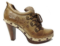 leather shoes for women laser graved new design 2013