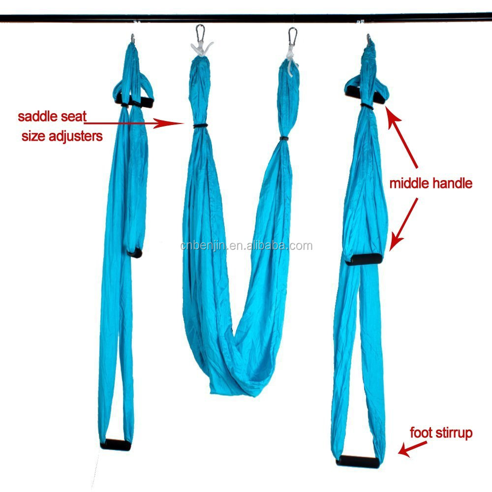Flying Yoga Hammock Inversion Sling with Straps Anchor Eye Bolt