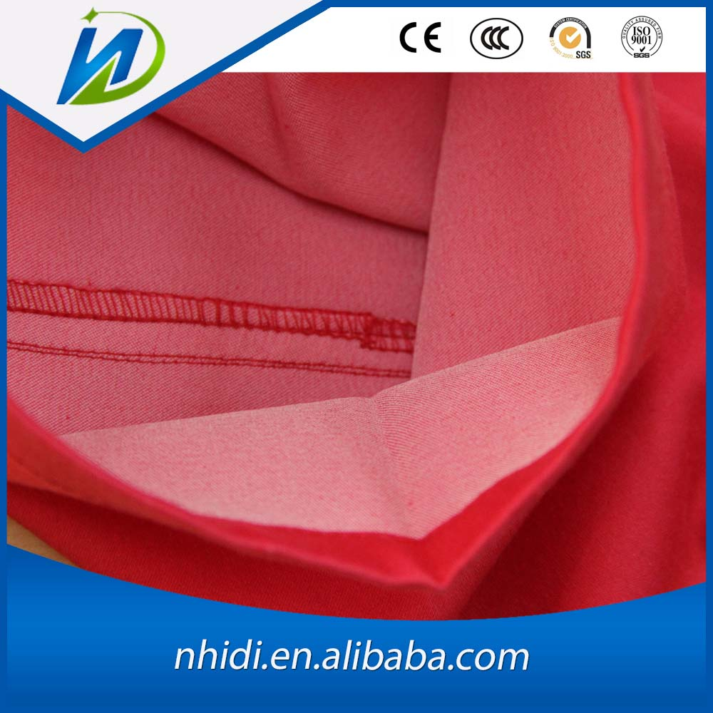 TC spandex elastic woven solid dyed satin pants fabric